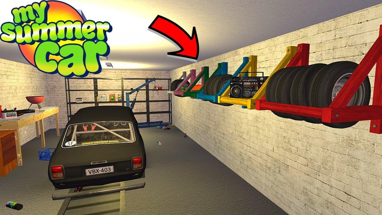 TIRE RACKS + LOCATIONS - GARAGE ORGANIZATION - My Summer Car #157 (Mod)