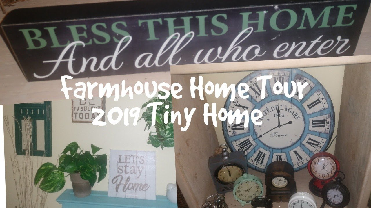 After Christmas Home Tour 2019 Vintage Tiny Farmhouse Living Room