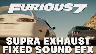 Furious 7 Toyota Supra Sounds (FIXED)