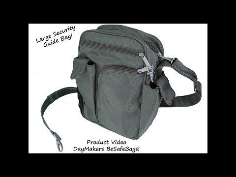 How to Be Safe RFID Large Secuirty Guide Bag, Theft-Proof Shoulder Bag