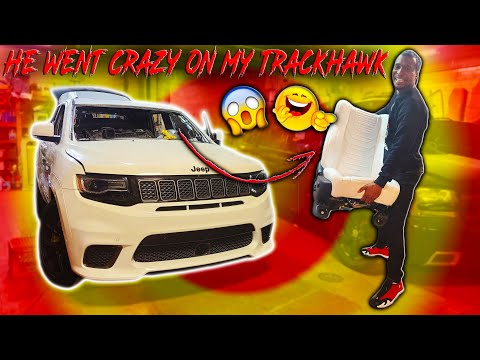 FIRST LOOK AT CJ_ON_32S TRACKHAWK ALL WHITE LAMBORGHINI ULTRA LEATHER INTERIOR 🔥