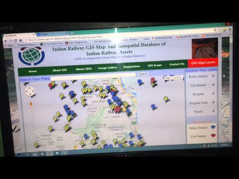 Indian Railway GIS Map And Geospatial Database of Indian Railway Asset