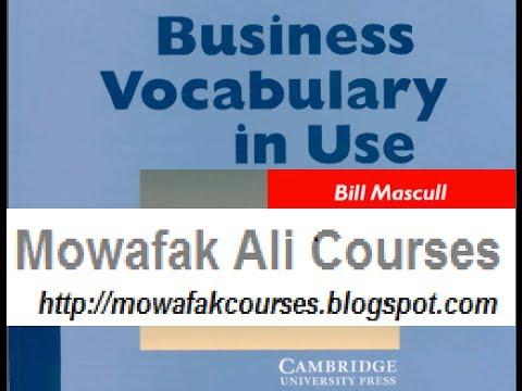 Business vocabulary 1