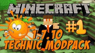 Minecraft 1.7.10 Technic Modpack Ep 1. Getting Started