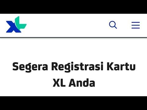 cara registrasi ulang kartu XL 100% berhasil  YouTube