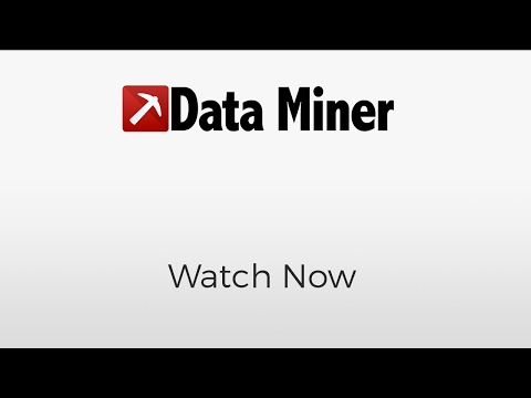 What is Data Miner? - YouTube