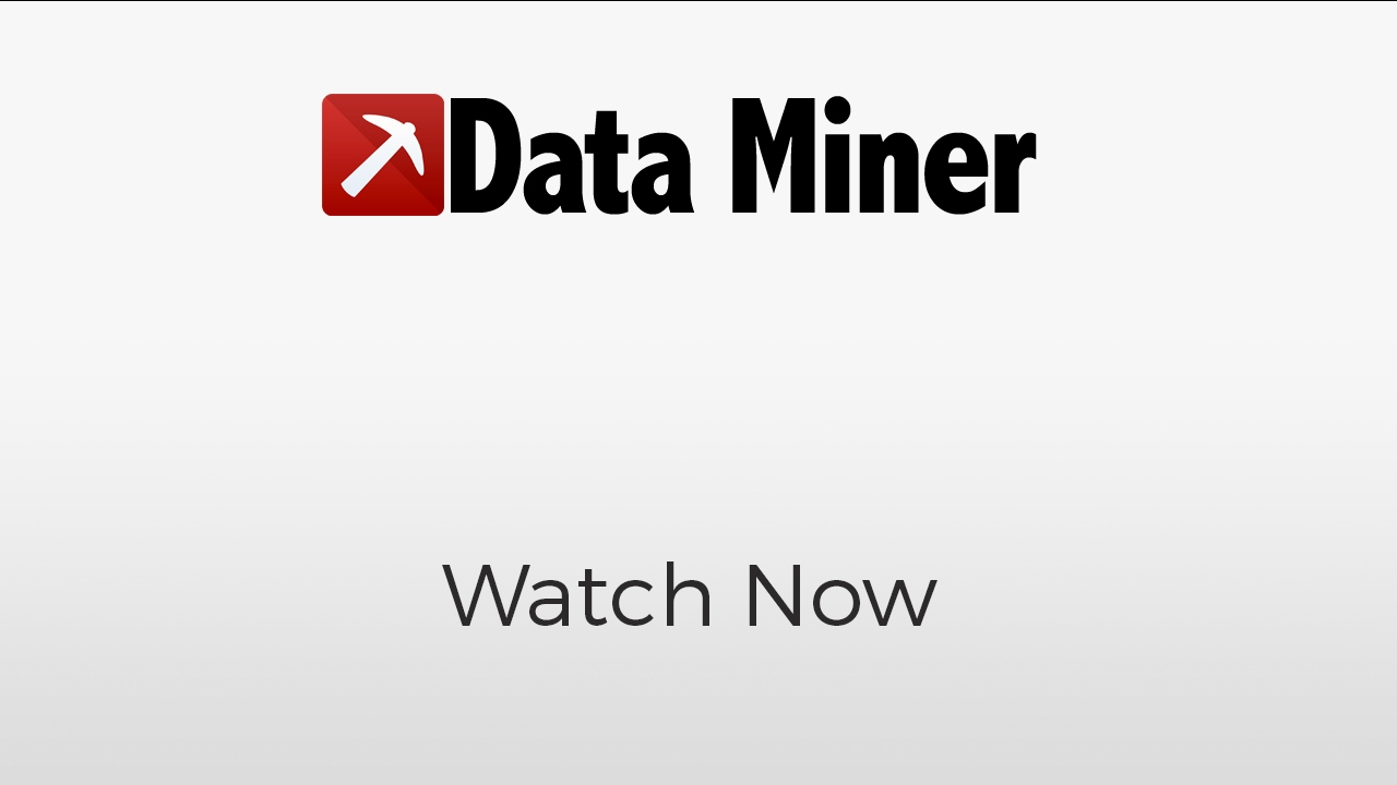 What is Data Miner?