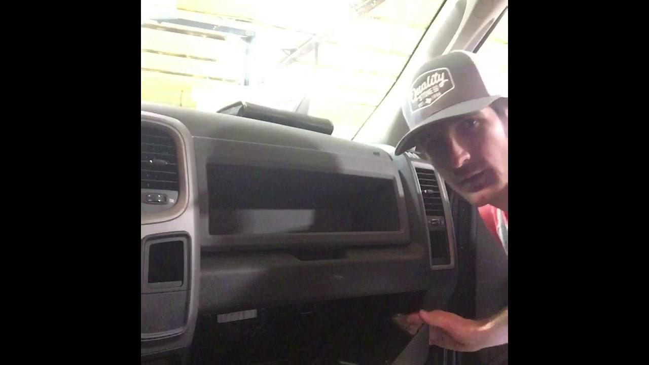 2018 Chevy Silverado >> 2010-17 Ram Upper Glove Box Addition - YouTube