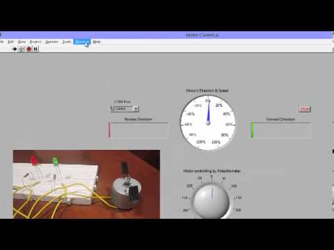 Labview Interfaced with Arduino: DC Motor Speed Control - YouTube