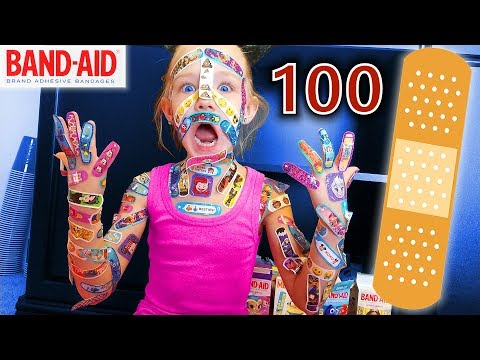 100 Layers of Band-Aids!! | Madison Still Hates Bandaids!