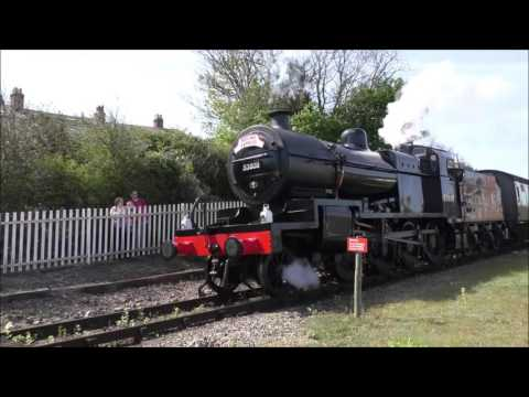 WEST SOMERSET RAILWAY STEAM IN EARLY MAY 2016 Part 1