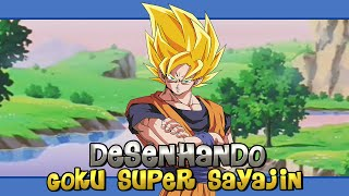 Desenhando Goku SSJ - Dragon Ball (Drawing Goku SSJ - Dragon Ball)