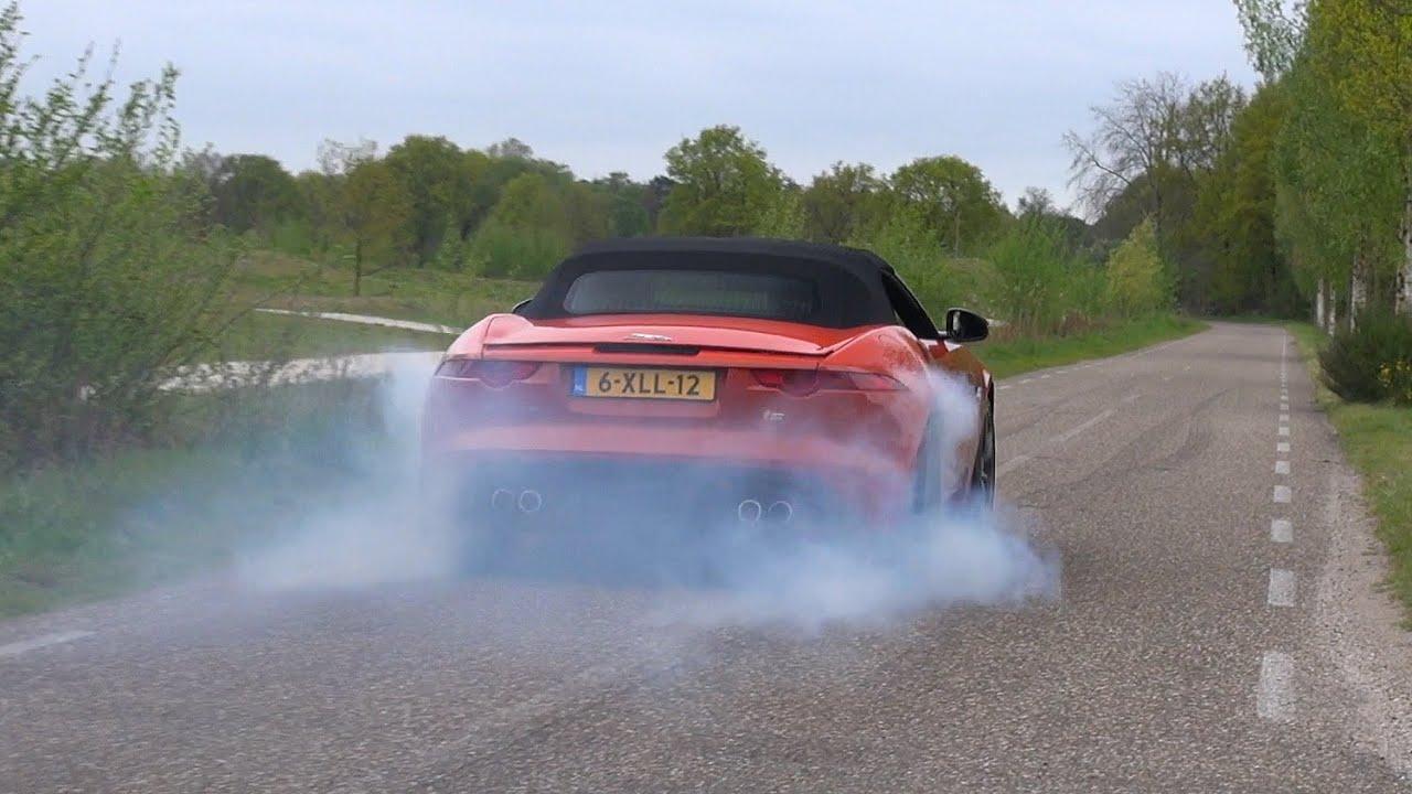 Supercars Leaving Car Meet LOUD! Jaguar F-Type R, M5 V10, GT-R, C6 Z06, RS6