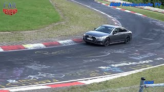 SPIED: Audi e-tron and Audi S8 get sideways at the Nurburgring  - Car Reviews Channel