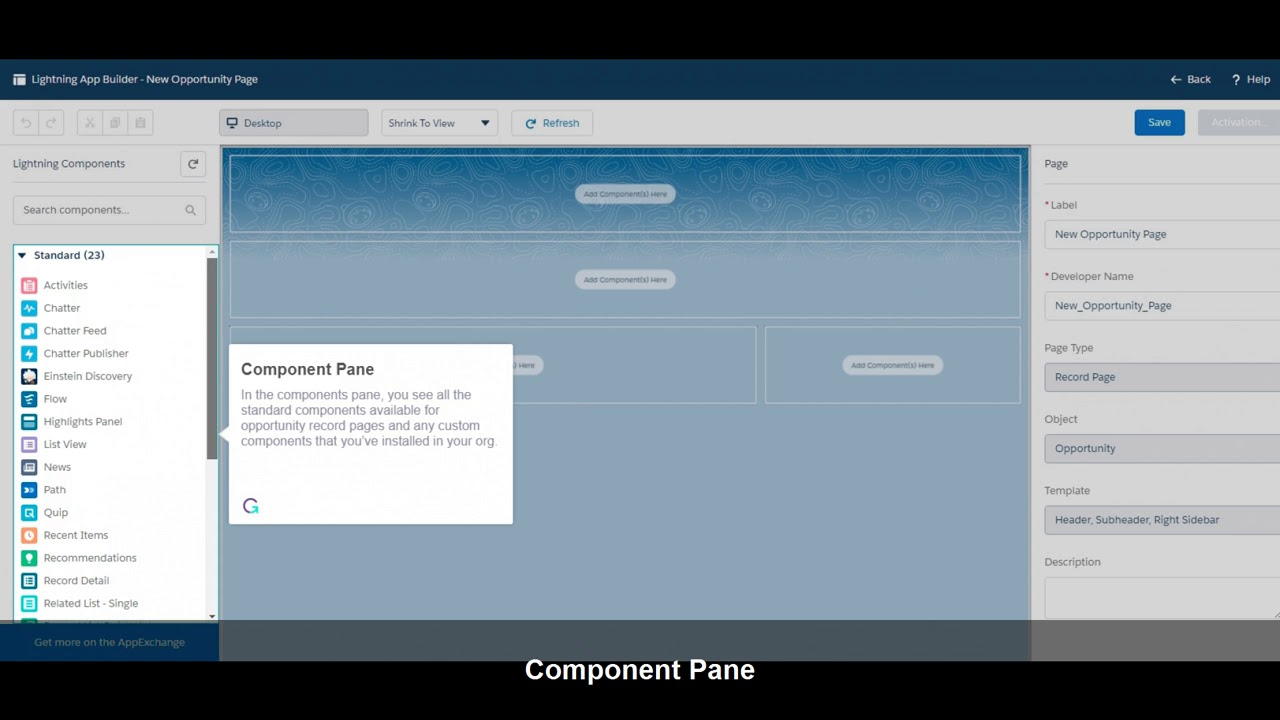 Create a Custom Lightning Record Page @salesforce #DF17