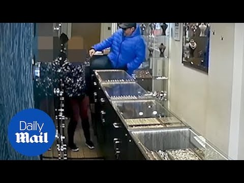 Three Robbers Viciously Attack Female Employee In A Jewellery Raid
