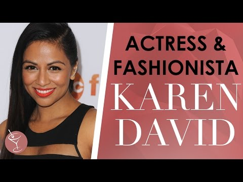 Karen David On Being A Fashionista & Becoming Princess Jasmine  DATE WITH DANIEL
