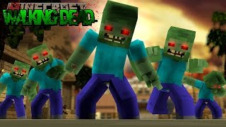minecraft the walking dead the zombies take our camp