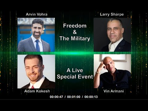 Freedom & The Military (Arvin Vohra, Larry Sharpe, Adam Kokesh, and Vin Armani)