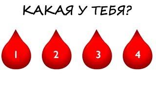 Тест по ГРУППЕ КРОВИ! Твой характер расскажет твоя группа крови! Интересная психология!
