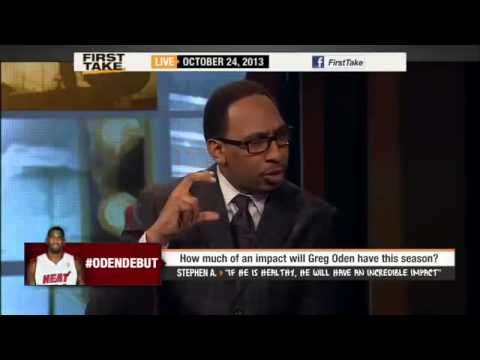Greg Oden's Impact On the Miami Heat     ESPN First Take