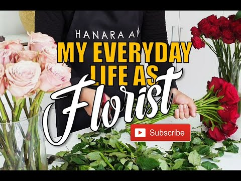 WHAT I DID AS FLORIST : First Vlog of my Florist life in youtube!