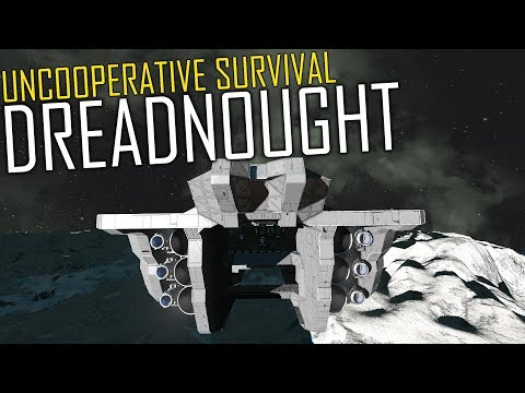 Space Engineers: Building a DREADNOUGHT (Creative Stream) - Uncooperative  Survival #24