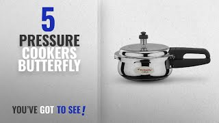 Top 10 Pressure Cookers Butterfly [2018]: Butterfly Curve Stainless Steel Pressure Cooker, 2 Litre