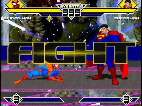 Spiderman vs Superman MUGEN (which hero do you think will win?)