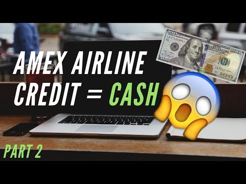 How To Turn The AMEX Airline Fee Credit Into CASH (MUST WATCH)