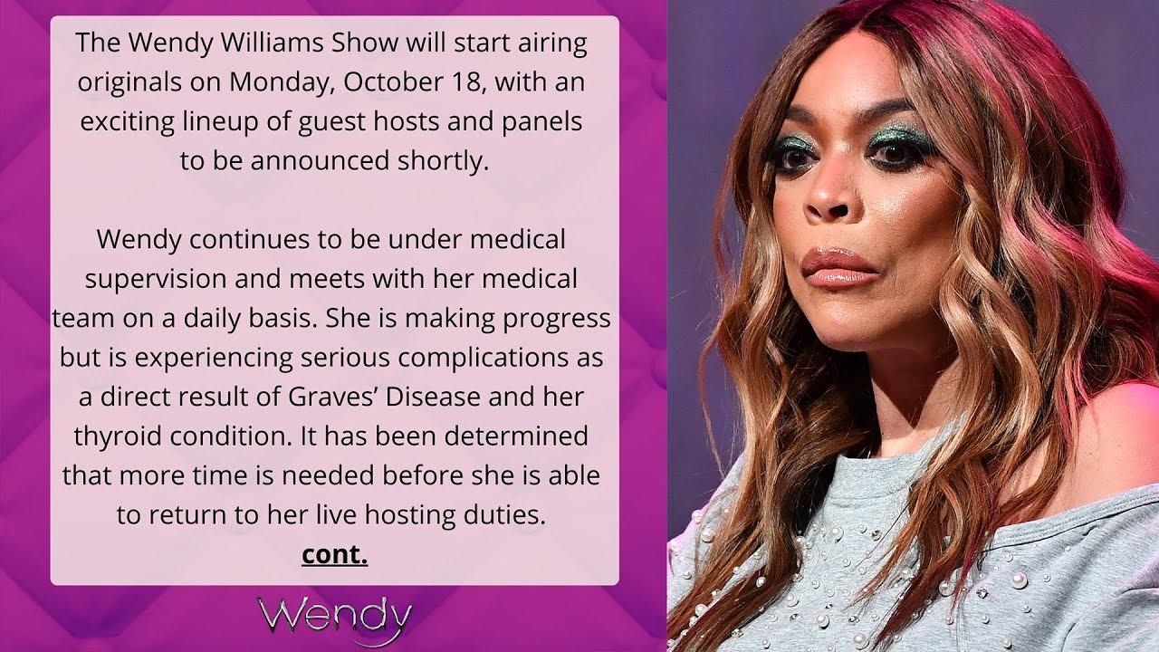 Wendy Williams Will Not Return to Her Talk Show Amid 'Serious ...