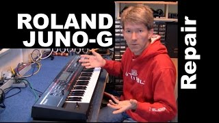 ROLAND JUNO-G synthesizer repair MF#56