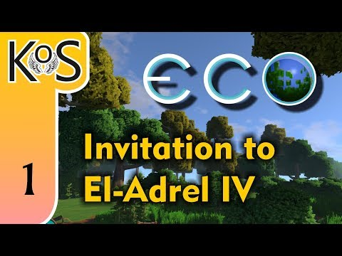 Eco El-Adrel IV Ep 1: INVITATION TO SERVER 3 - Multiplayer - Voxel Builder/RPG - Let's Play