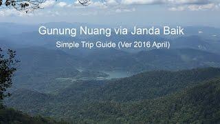 Gunung Nuang via Janda Baik (solo santai)