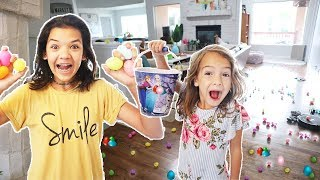 FIRST to FIND Easter BASKET! Massive EGG hunt with Thousands of Easter EGGS!
