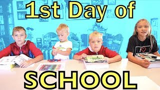FIRST DAY OF SCHOOL 🏫 (HOMESCHOOL)