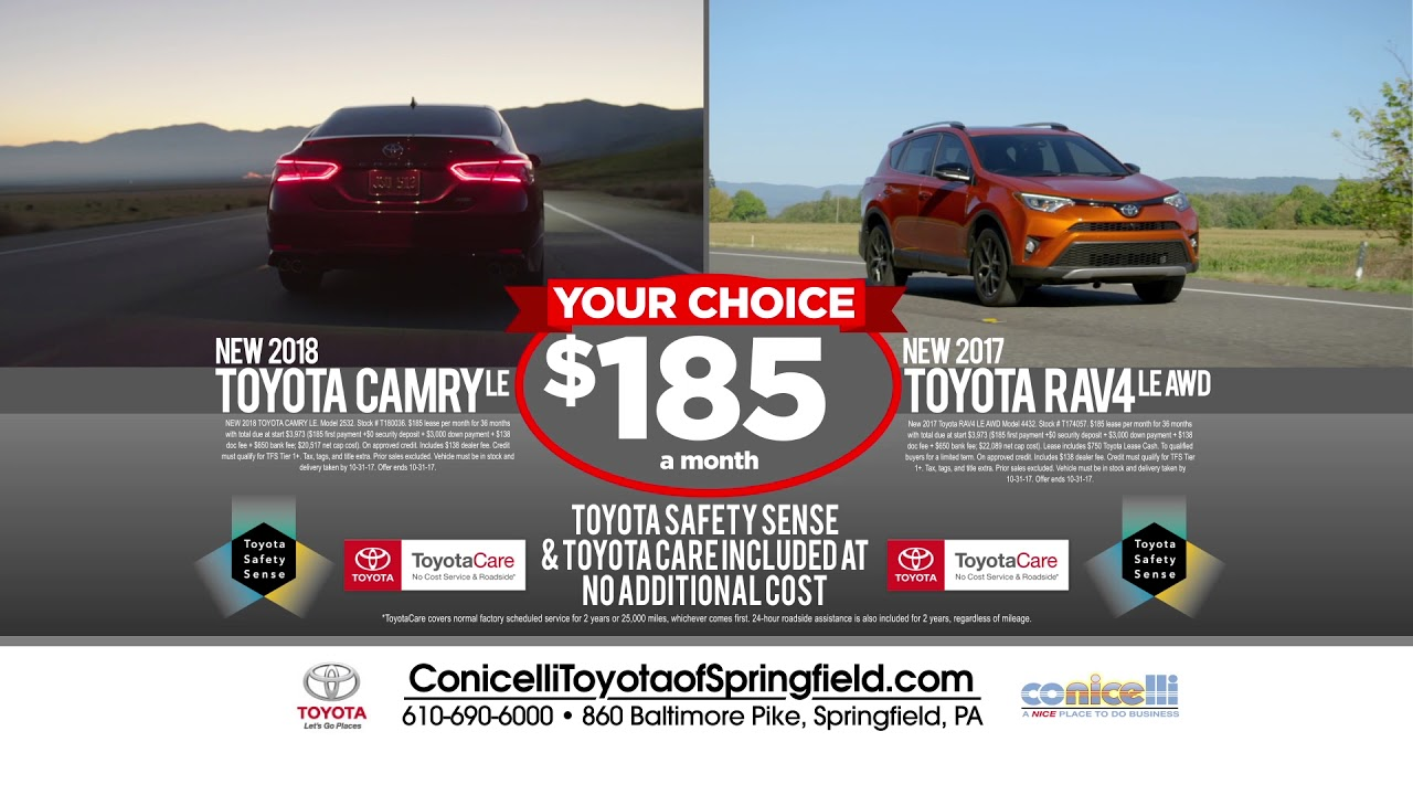 Lovely $185/month Camry U0026 $185/month RAV4 At Conicelli Toyota Of Springfield