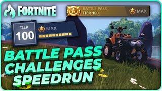 fortnite all challenges speedrun race vs. 360Chrism! | season 6 battle pass | raysfire