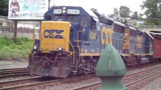 CSX, Amtrak, New England Central, and Mass Central Railfanning