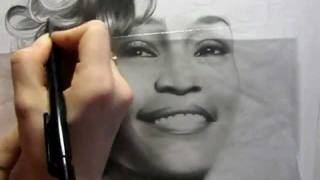 Drawing Whitney Houston (by Ellen Sunbeam-Elena2687)