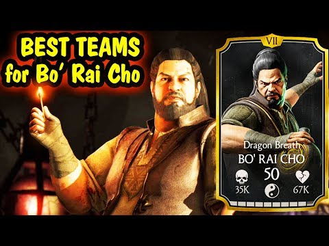Best Bo Rai Cho Teams in MKX Mobile. AWESOME LIVE Stream + Free Souls Giveaway.