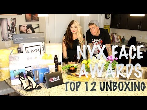 NYX Face Awards 2015 | Top 12 Unboxing | Cooking with Hanz
