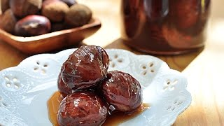 糖漬栗子。Candied chestnuts 栗子 動画 28