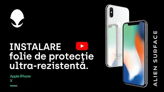 Folie protectie Apple iPhone X ecran, spate, laterale Alien Surface™