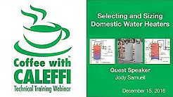 Selecting and Sizing Domestic Water Heaters