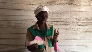 Kariba women making re useable sanitary wear