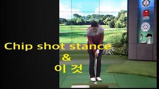 김학서 Golf TV 칩샷 스탠스  모양