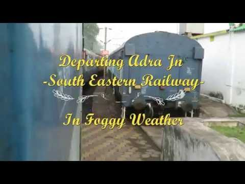 Departure from Adra Jn of South Eastern Railway by Howrah-Chakradharpur Passenger