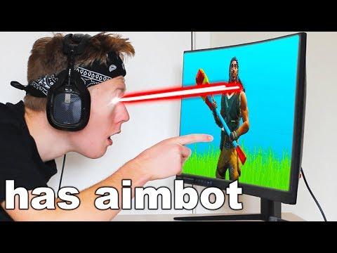 I used AIMBOT with EYE-TRACKER on Fortnite
