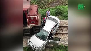 Tàu hỏa đâm ô tô, 5 người thương vong | VTC14